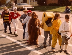 The author as Chewbecca... I'm behind Pac Man.
