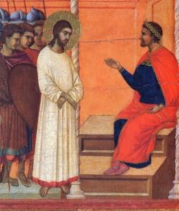 Pilate in his big scene