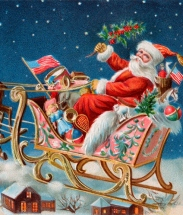Santa on his Sleigh