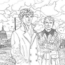 Sherlock Coloring Book